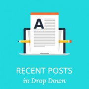 How to Show Recent Posts as a Drop Down in WordPress