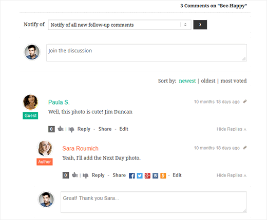 wpDiscuz comments system