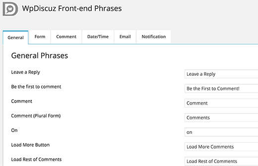 wpDiscuz front-end phrases