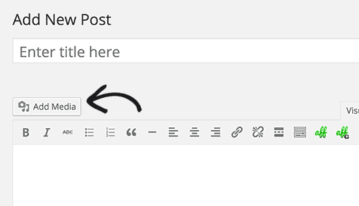 Use media uploader while writing posts to upload your PDF files