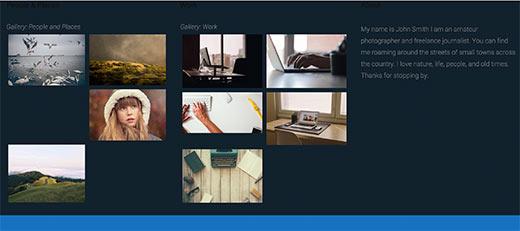 Multiple galleries in WordPress sidebar or widget ready area