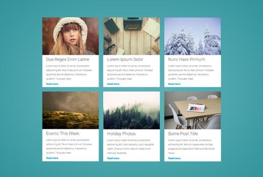 Displaying WordPress posts in grid layout