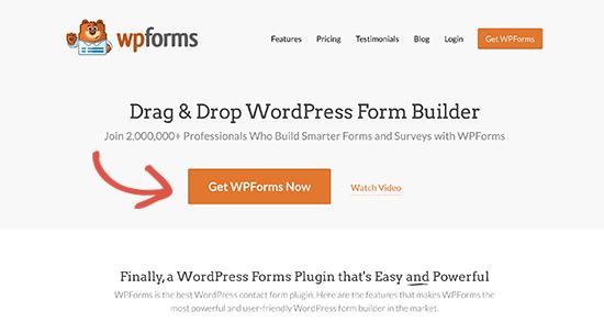 Get WPFroms button