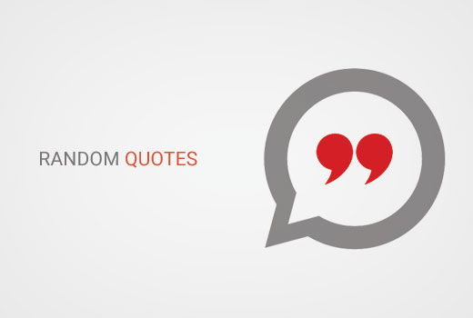 Add random quotes in WordPress sidebar