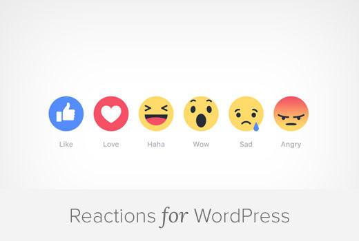 Adding Facebook Type Reactions for WordPress Blog Posts