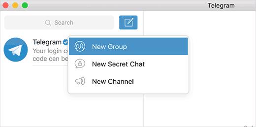 Creating a new Telegram group