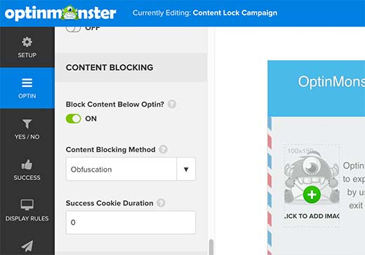 Content blocking options