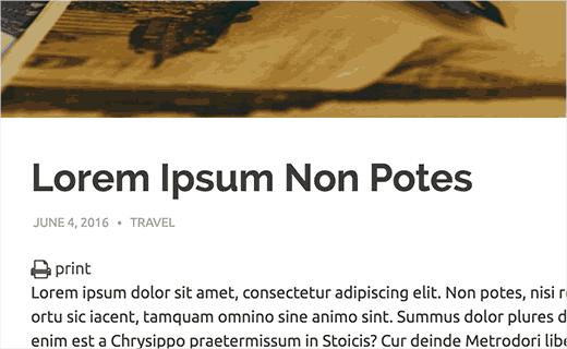 Print button in WordPress post
