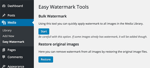 Add watermark to old images