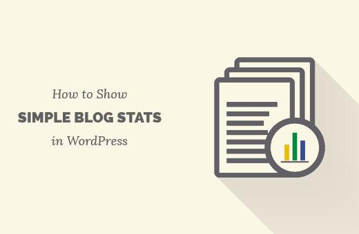 Add simple blog stats in WordPress