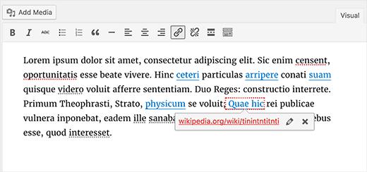 Broken link highlighter in WordPress 4.6