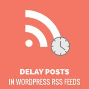 How to Delay Posts From Appearing in WordPress RSS Feed