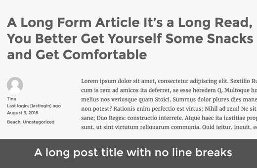 A long post title