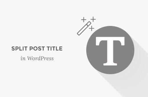 Split post or page title in line breaks