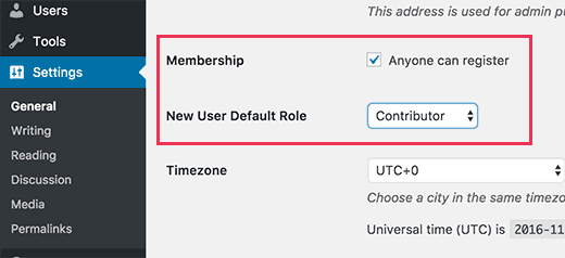 Allow user registration on your WordPress site