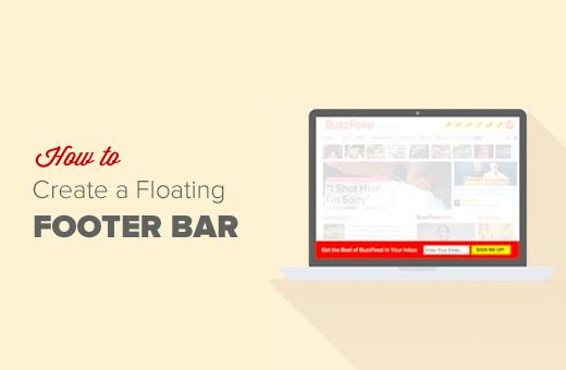 Floating Footer Bar