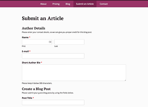 Preview user submitted forms