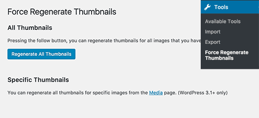 Regenerate all thumbnails