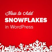 How to Add Falling Snowflakes in Your WordPress Blog