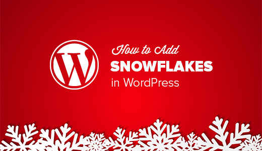 Adding Snowflakes in WordPress