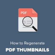 How to Regenerate PDF Thumbnails in WordPress