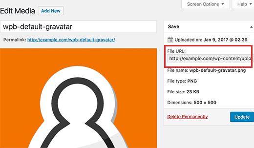 Copy file URL