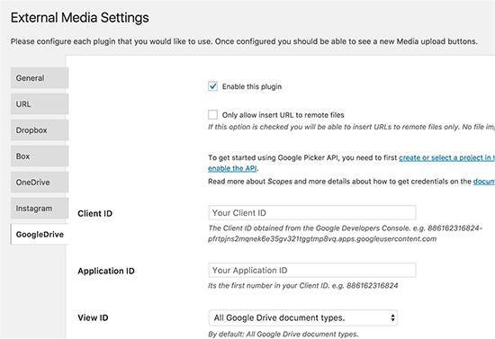 Google Drive Tab