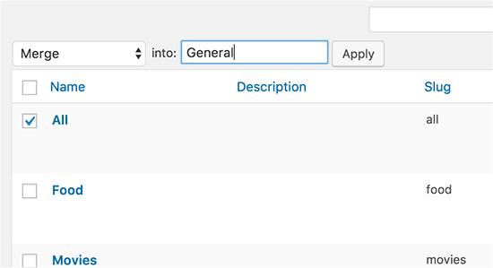 Merge categories, tags, or terms in custom taxonomies