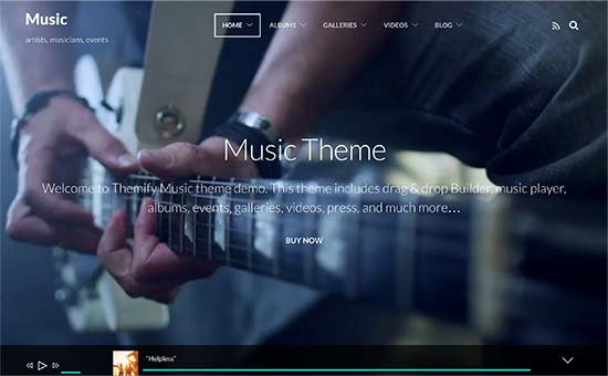27 Best WordPress Themes for Musicians and Bands (2021)