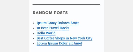 Plain random posts list