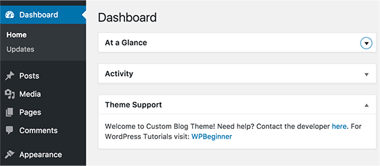 Custom dashboard widget in WordPress