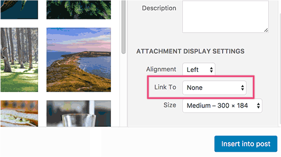 Disable default image links in WordPress
