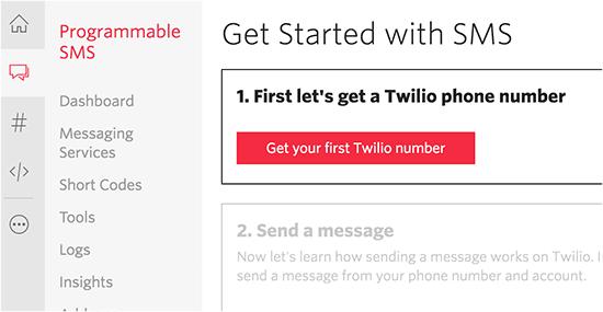 Get your Twilio number
