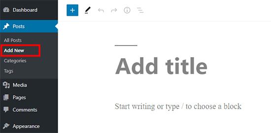 Add new post in WordPress