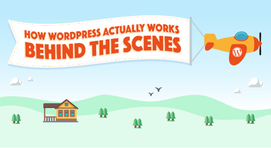 How Wordpress Actually Works Behind The Scenes Infographic