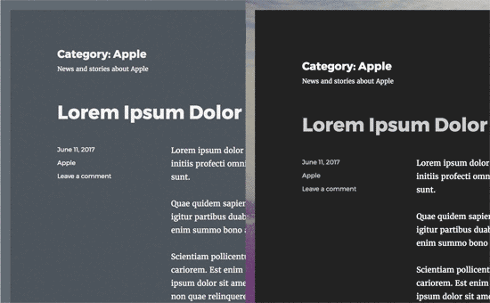 Changing category style using CSS