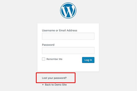 Recovering lost password in WordPress