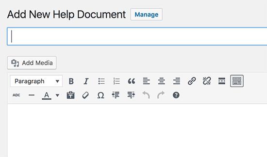 New help document