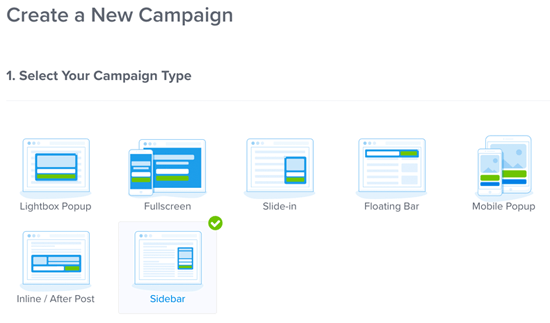 OptinMonster Create New Campaign