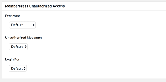 Restricted content options