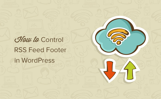 Control RSS feed footer in WordPress