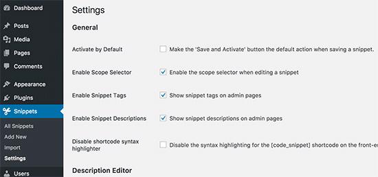 Tweaking plugin settings