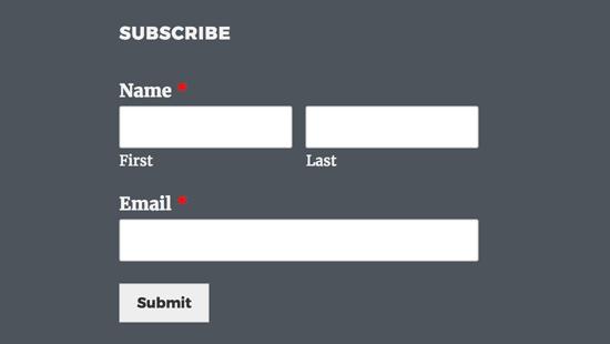 AWeber signup form widget
