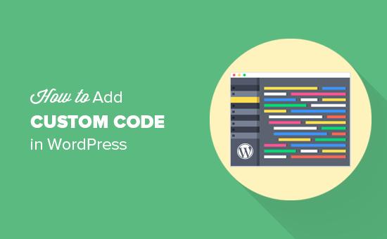 How to easily add custom code in WordPress