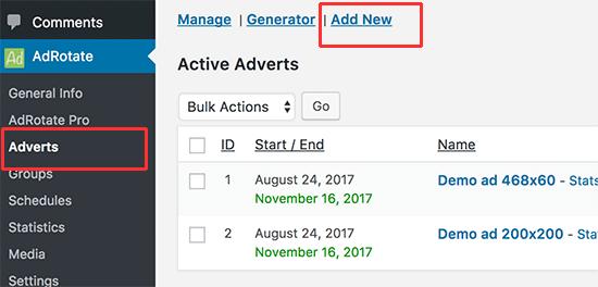 Add new ad