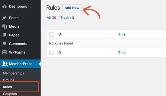 Add new rule