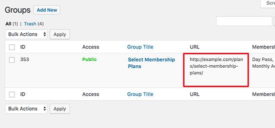 Group URL