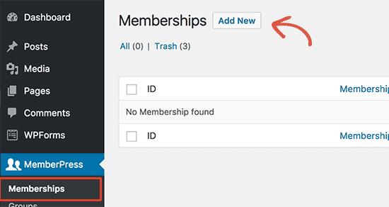 Add new membership