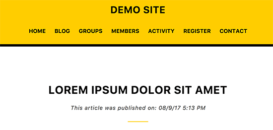 Showing publish date for WordPress posts