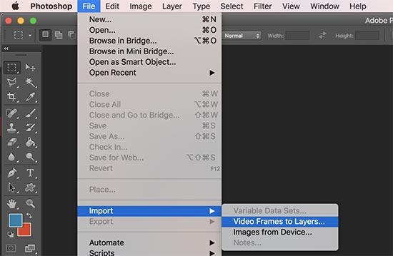 Import your video into layers